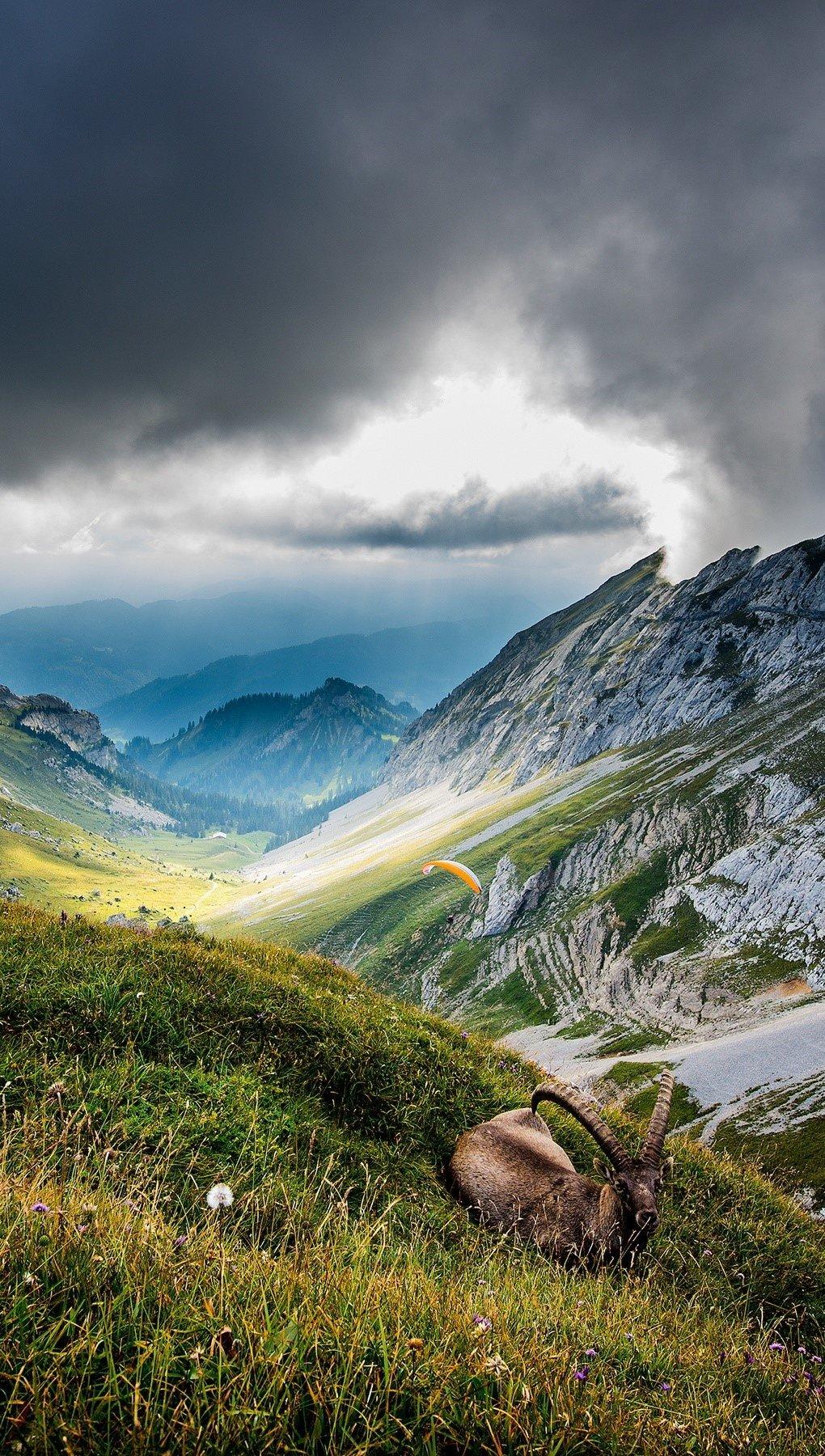 Wallpaper Mount Pilatus in Switzerland Vertical