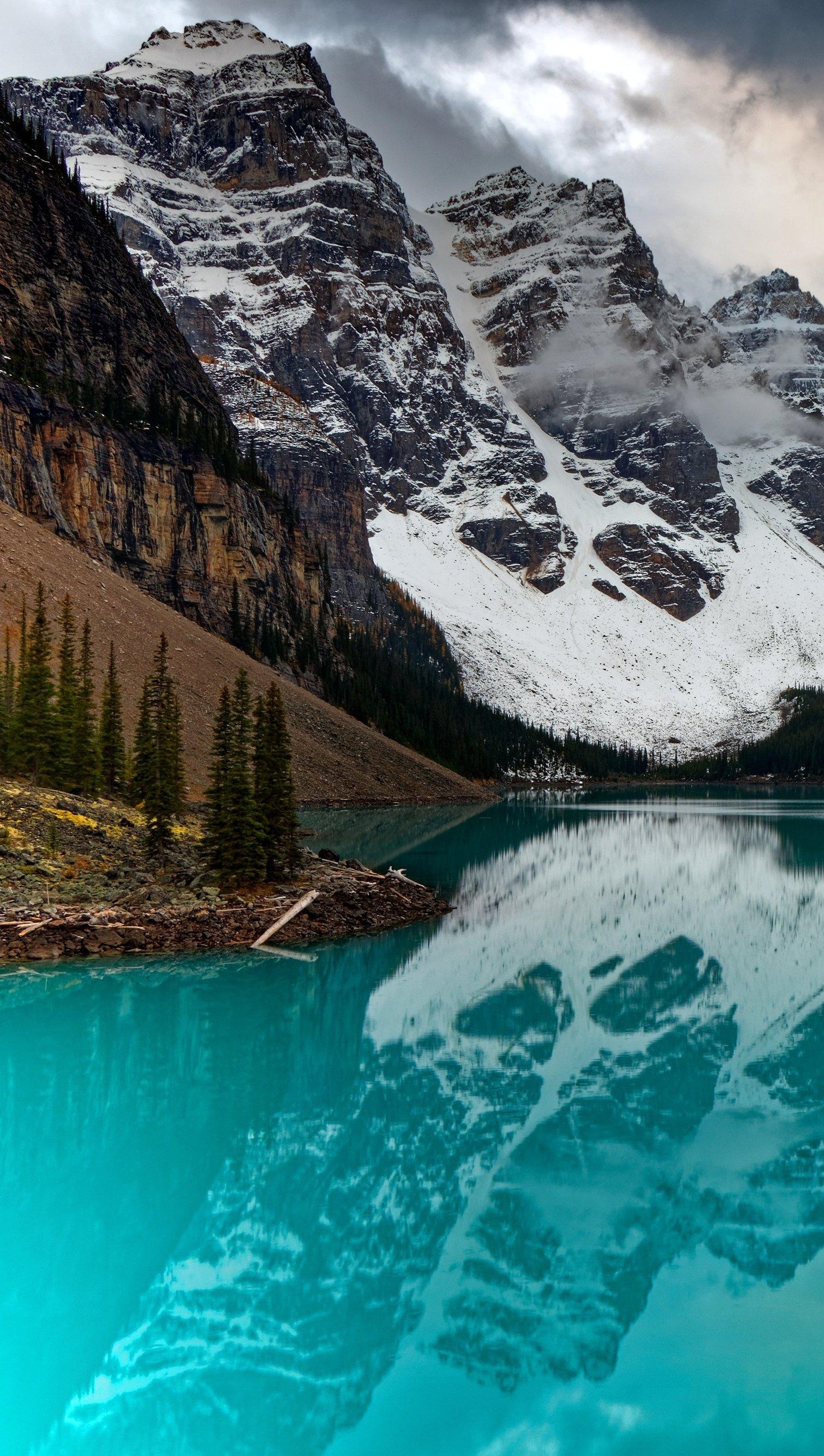 Wallpaper Moraine Canada Vertical