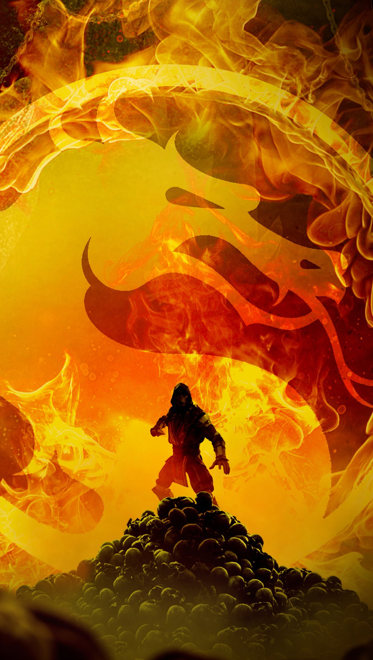 Wallpaper Mortal Kombat art Vertical