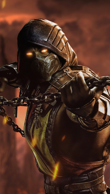 Fondos de pantalla Mortal Kombat Scorpion Vertical