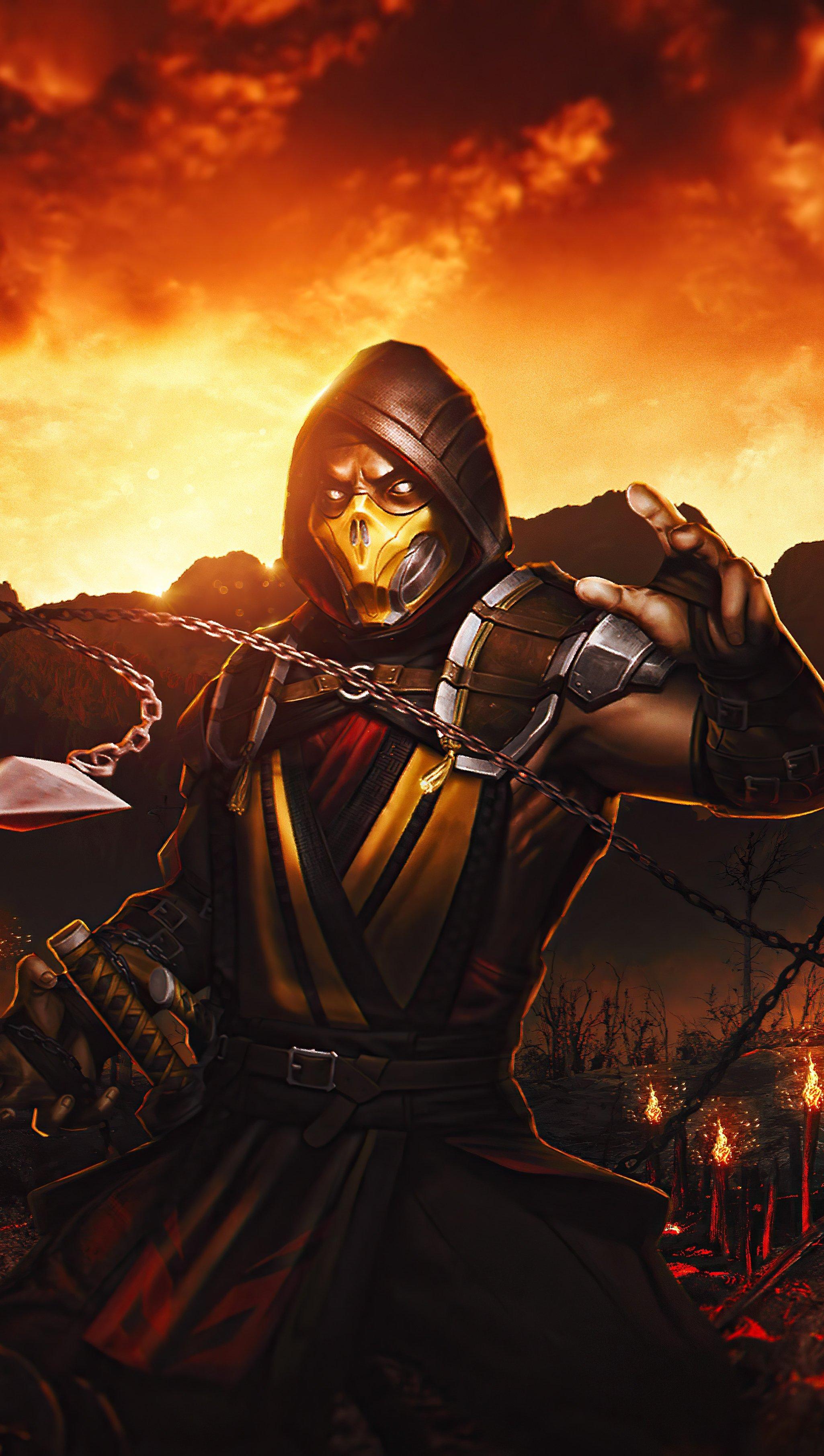 Fondos de pantalla Mortal Kombat Scorpion Samurai Vertical