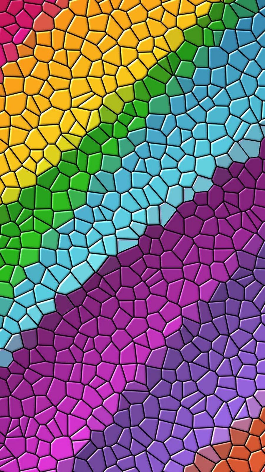 Fondos de pantalla Mosaico digital de colores Vertical