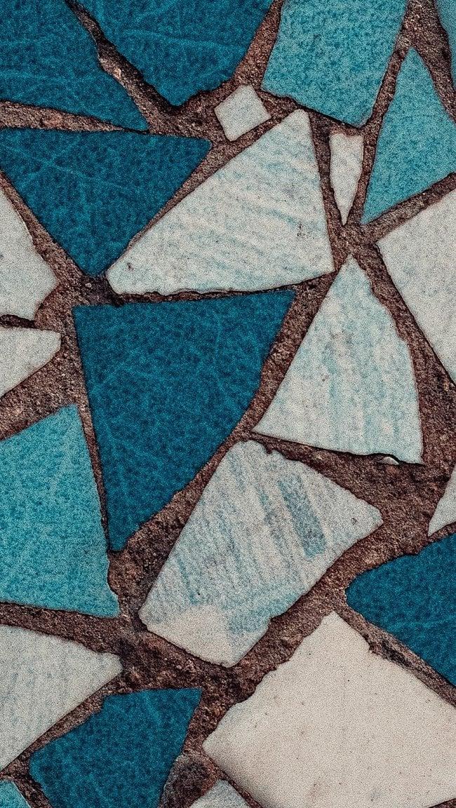 Fondos de pantalla Mosaicos azules y blancos Vertical