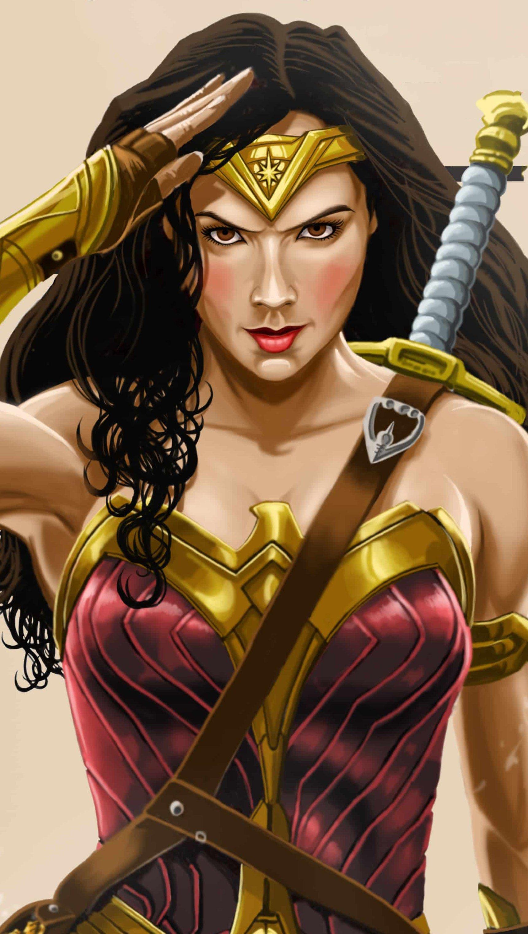 Fondos de pantalla Mujer Maravilla Ilustración Vertical