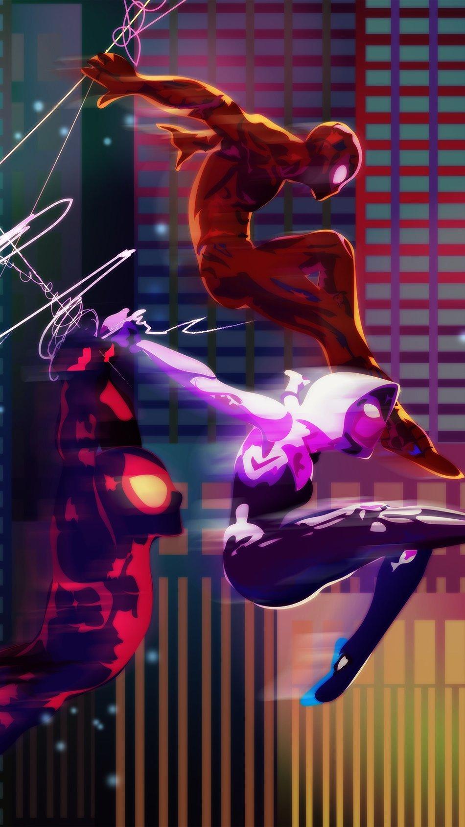 Fondos de pantalla Multiverso del hombre araña Vertical