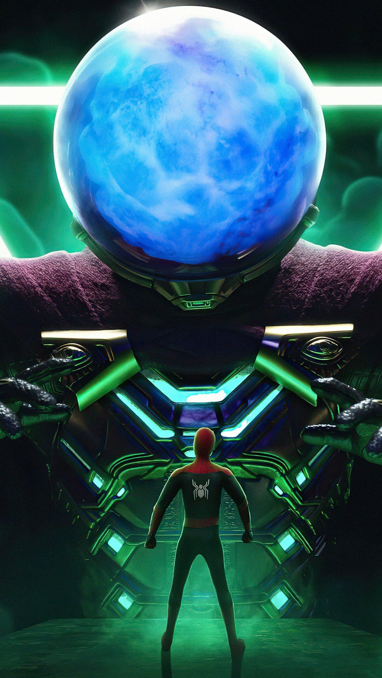 Fondos de pantalla Mysterio y Spider Man Fan Art Vertical