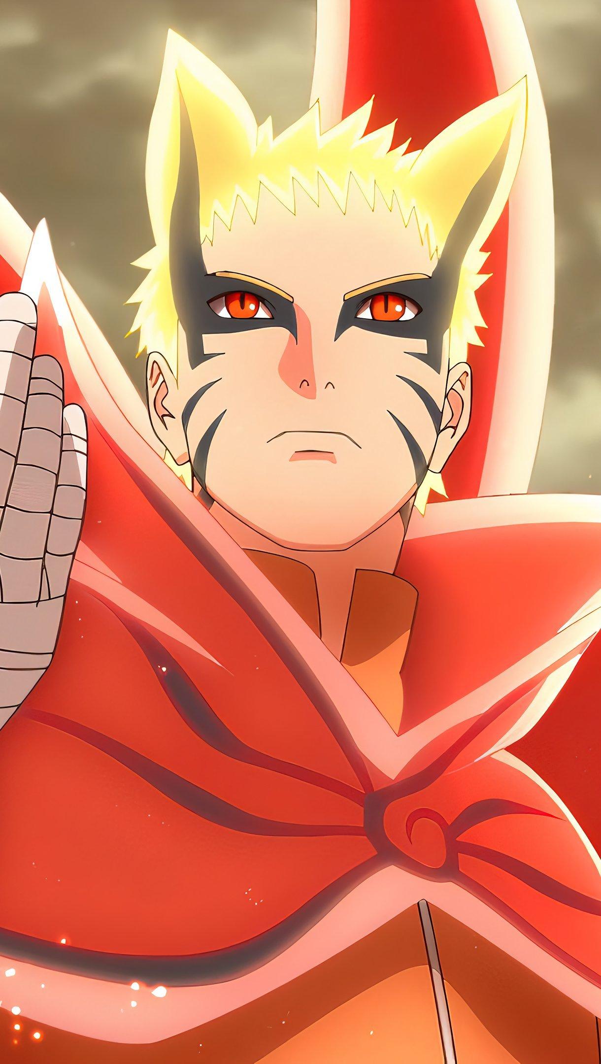 Fondos de pantalla Anime Naruto Uzumaki mano elevada Baryon Mode Vertical