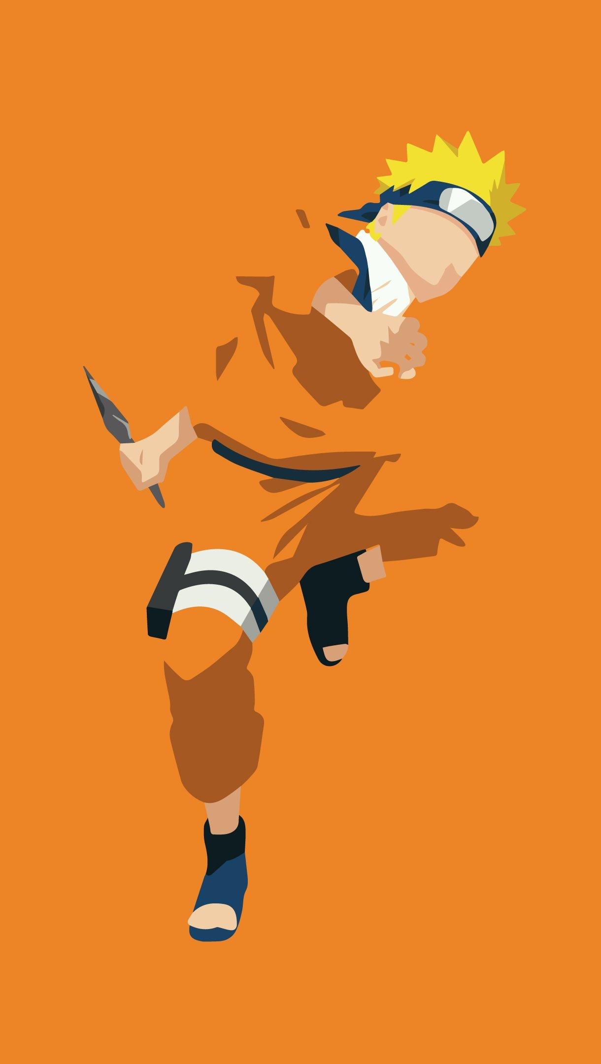 Fondos de pantalla Anime Naruto Uzumaki Minimalista Vertical