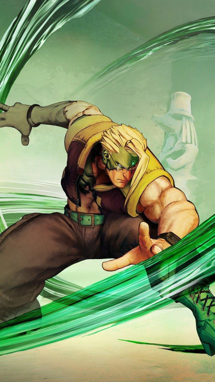 Wallpaper Nash from Street Fighter V Vertical