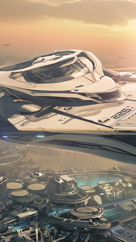 Wallpaper Star Citizen spaceship Vertical