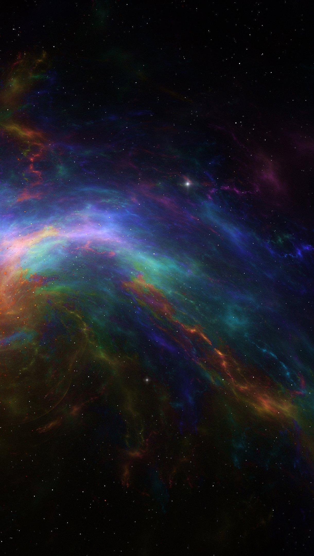 Fondos de pantalla Nebula colorida Vertical