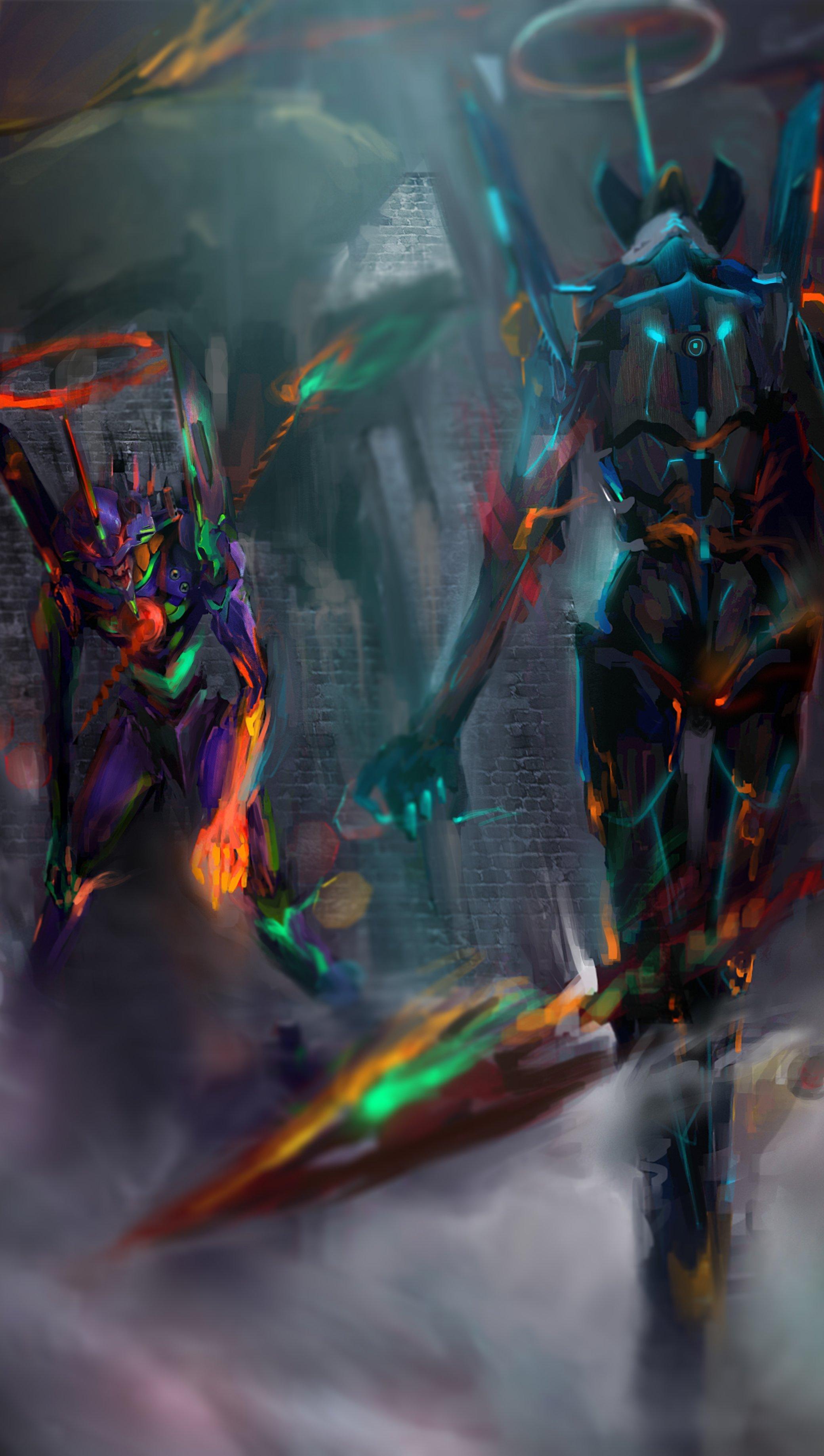 Anime Wallpaper Neon Genesis Evangelion Vertical