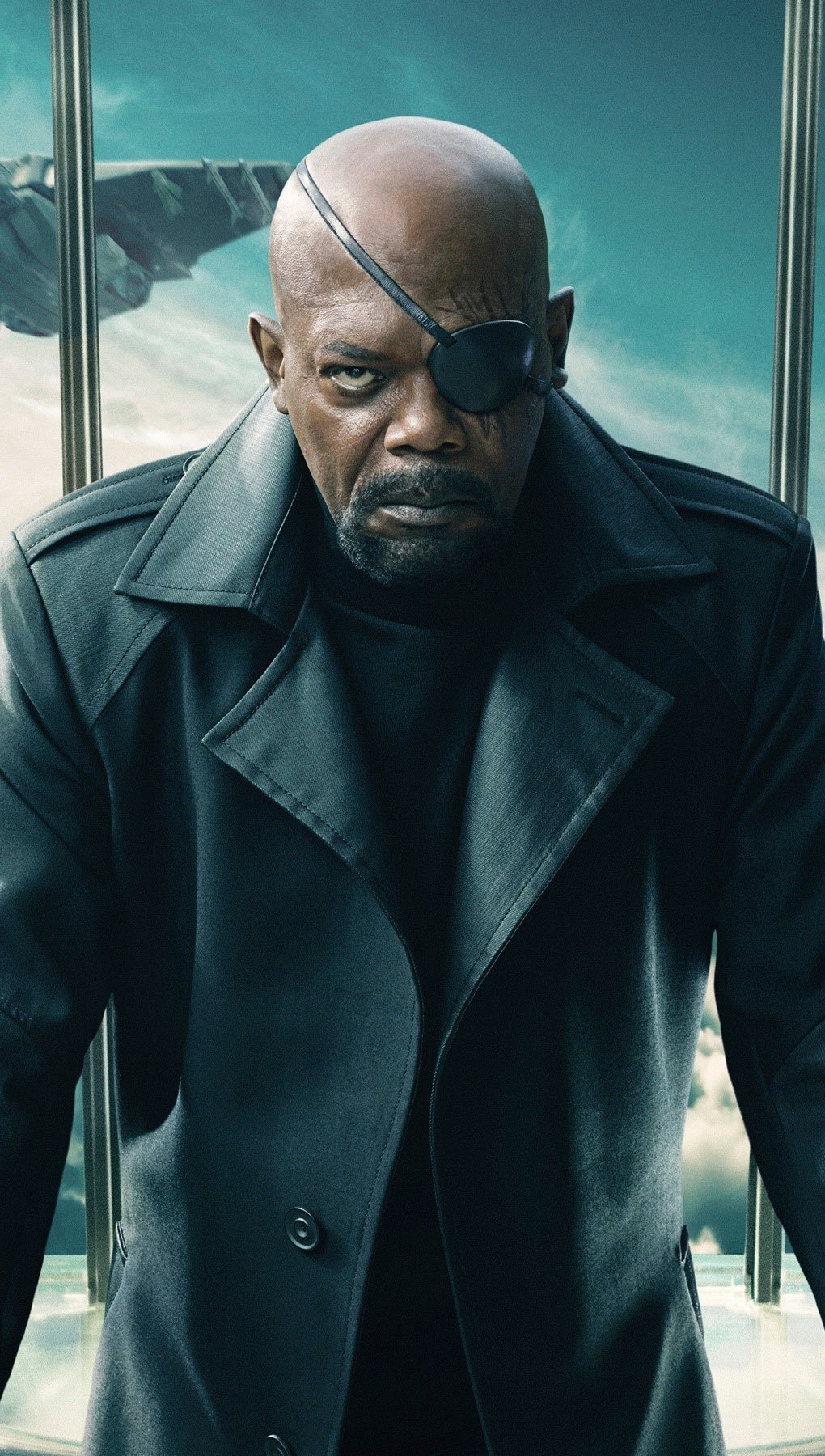 Fondos de pantalla Nick Fury en Capitan America Vertical