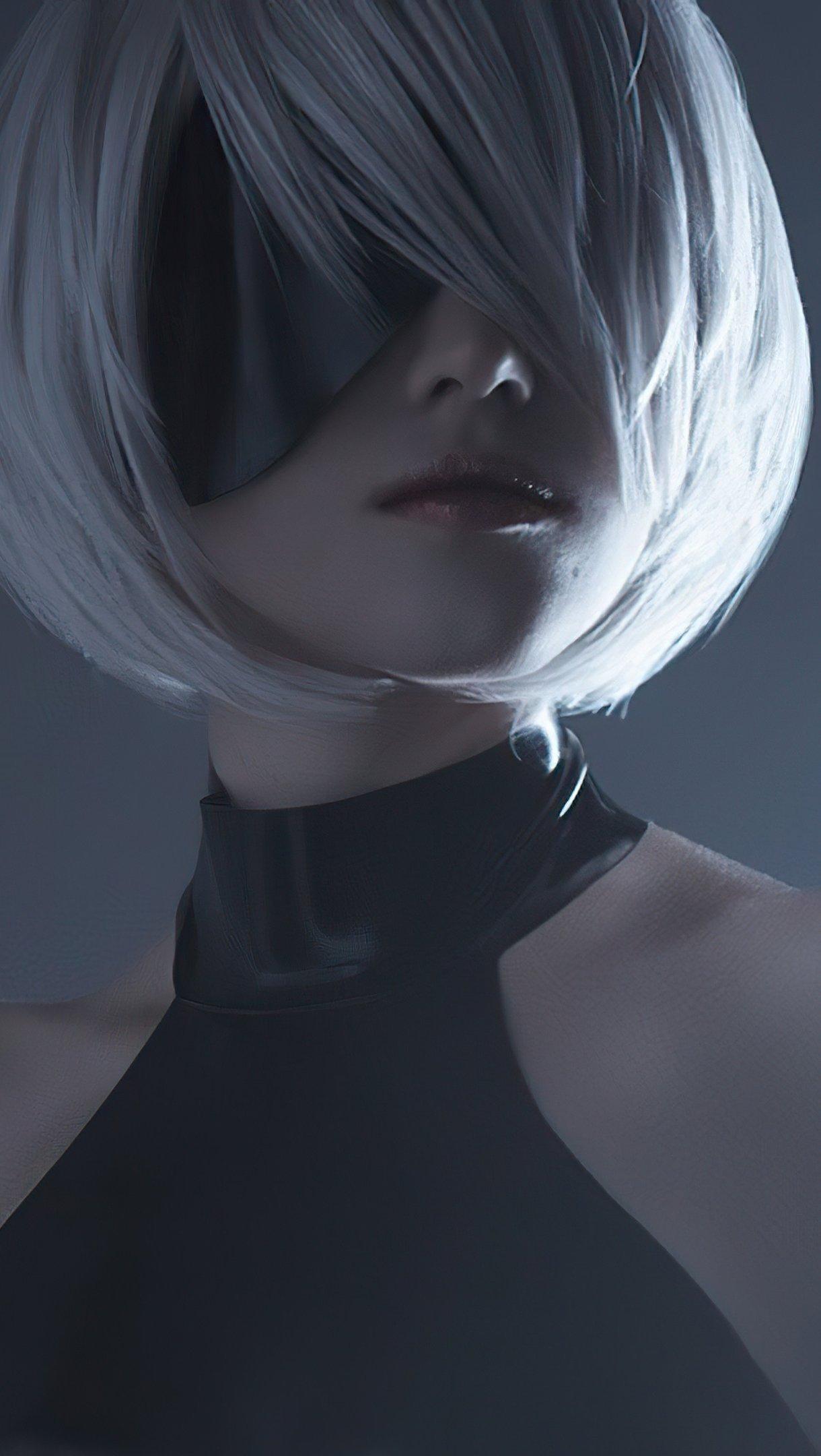 Fondos de pantalla Nier Automata con cabello corto Vertical