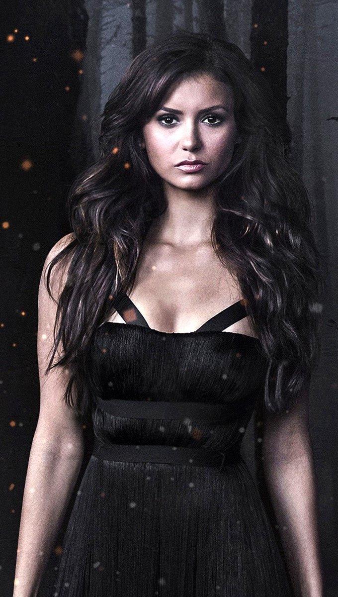 Wallpaper Nina Dobrev for Vampire Diaries Vertical