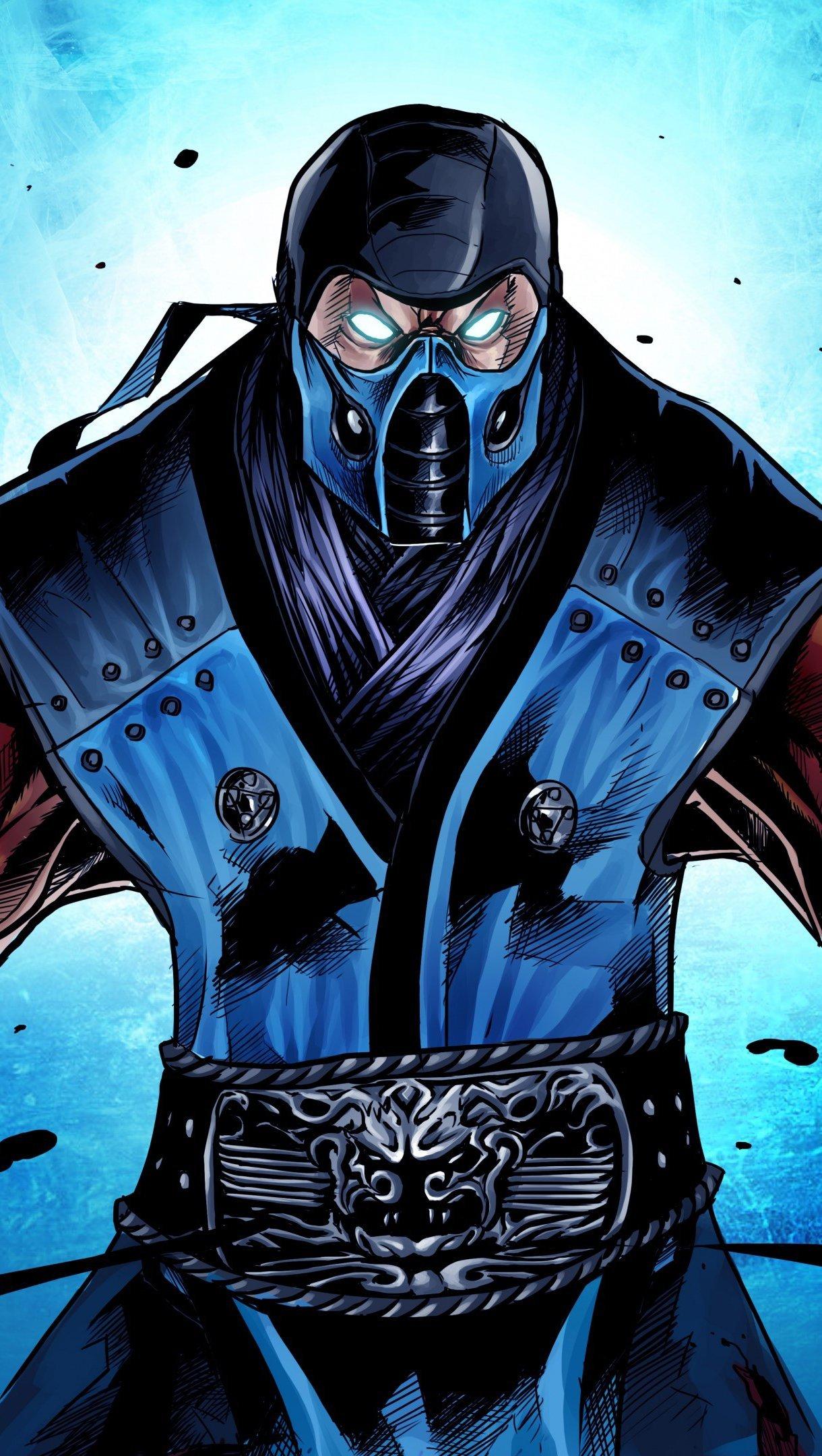 Wallpaper Ninja from the game Mortal Kombat Vertical