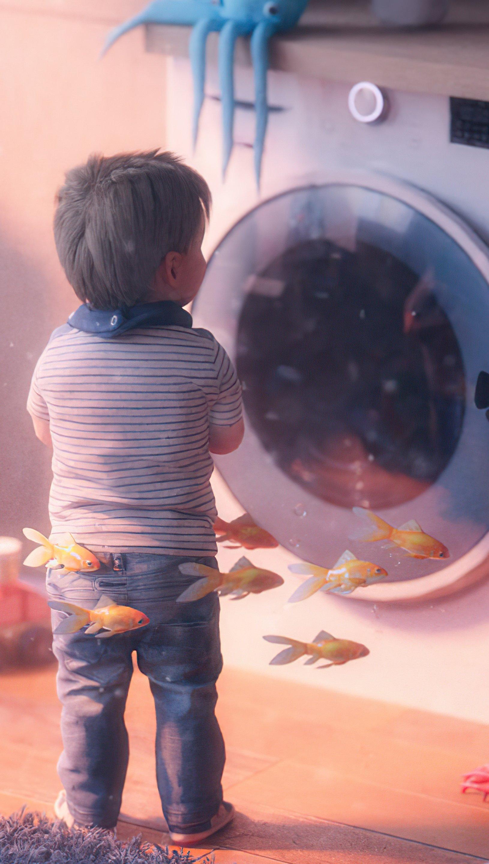 Wallpaper Child dreaming Vertical