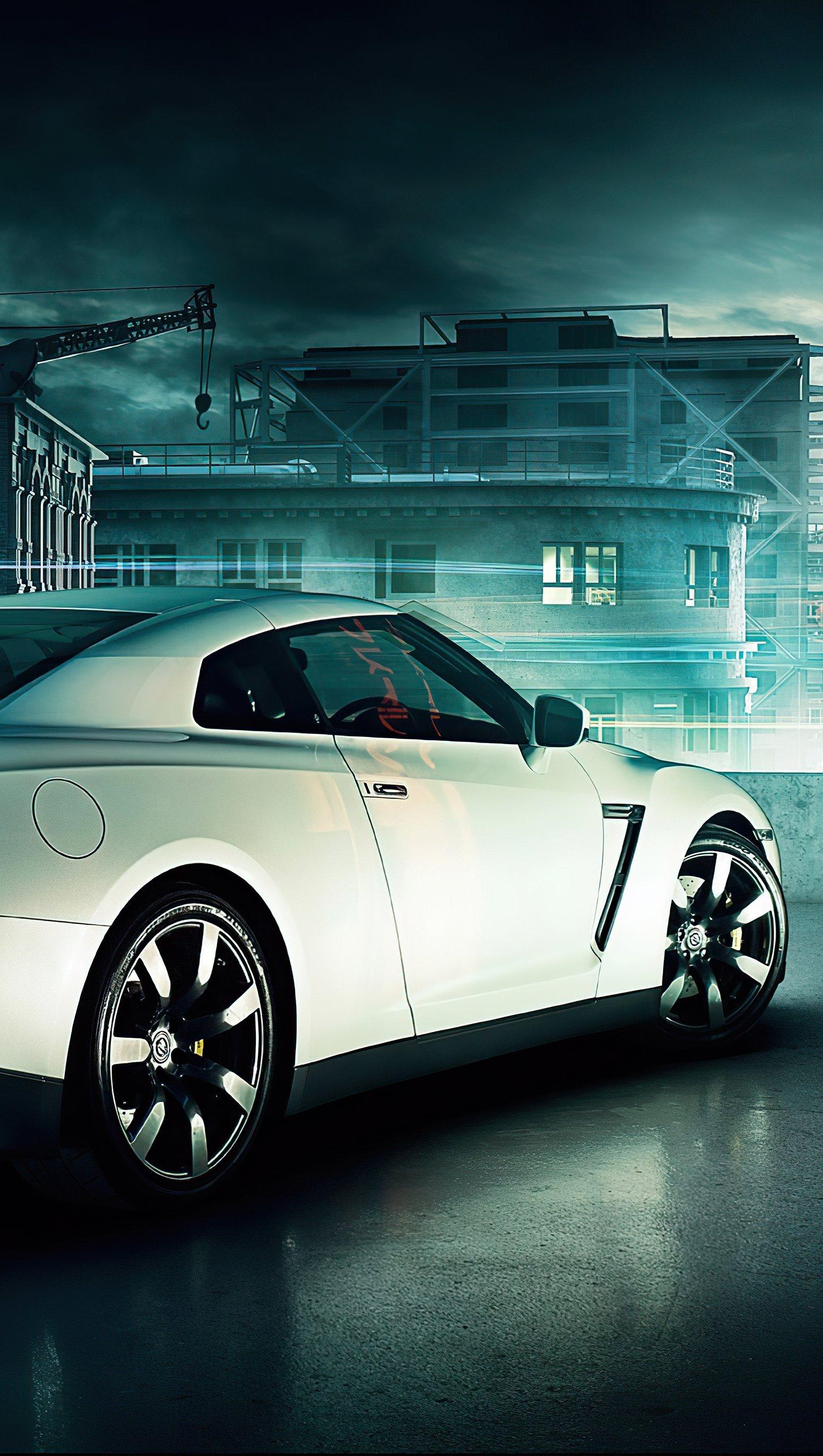 Wallpaper Nissan GTR in the future Vertical