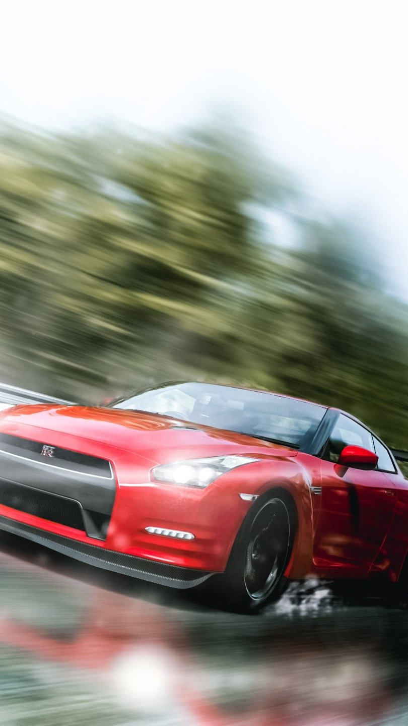 Wallpaper Nissan GTR great tourism Vertical