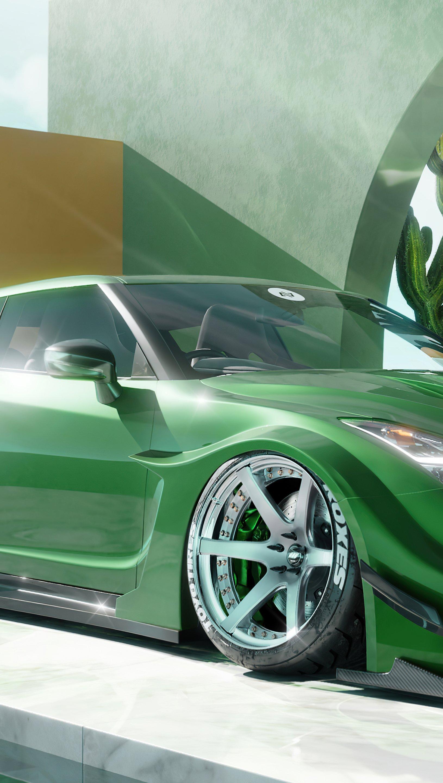 Fondos de pantalla Nissan GTR Liberty Walk shooting brake Vertical