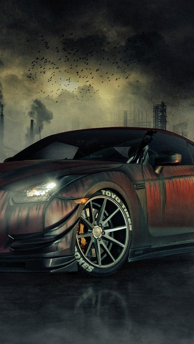 Wallpaper Nissan GTR R35 Zombie Killer Vertical