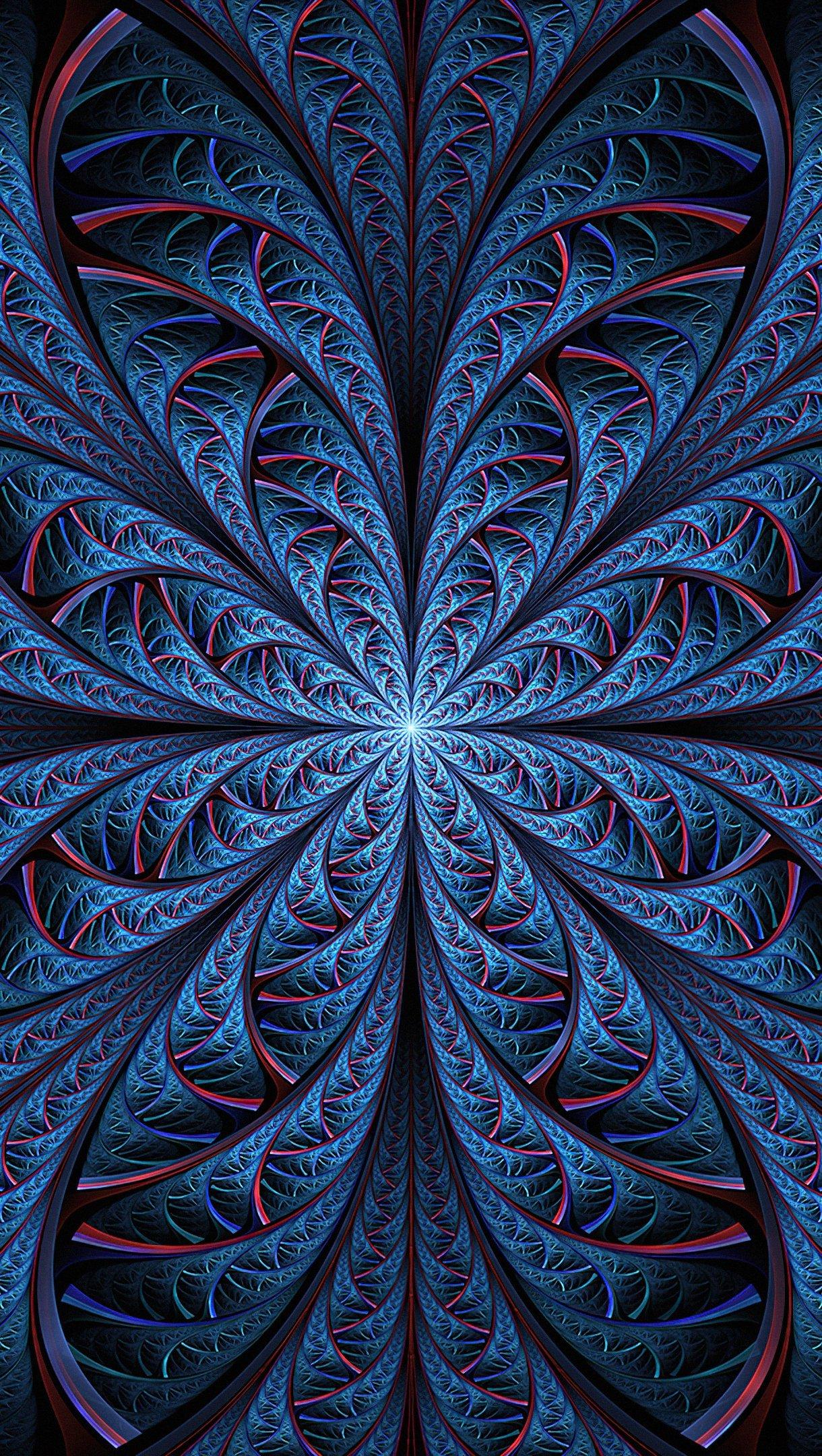 Wallpaper Night blue Spiral Vertical