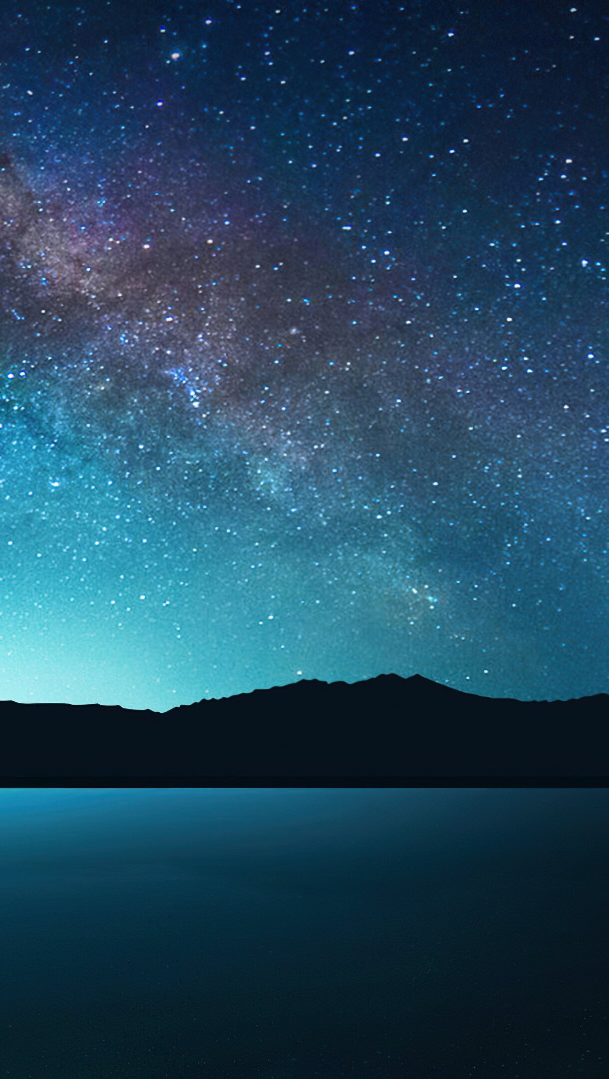 Wallpaper Night with stars Vertical