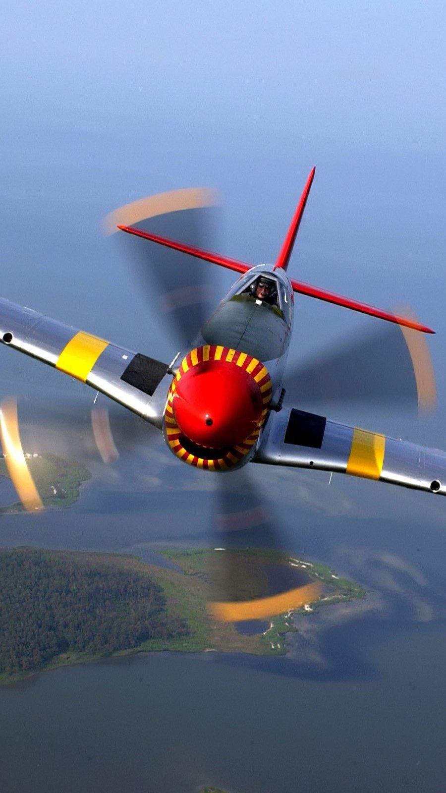 Wallpaper North american P 51 Mustang Aircraft Vertical