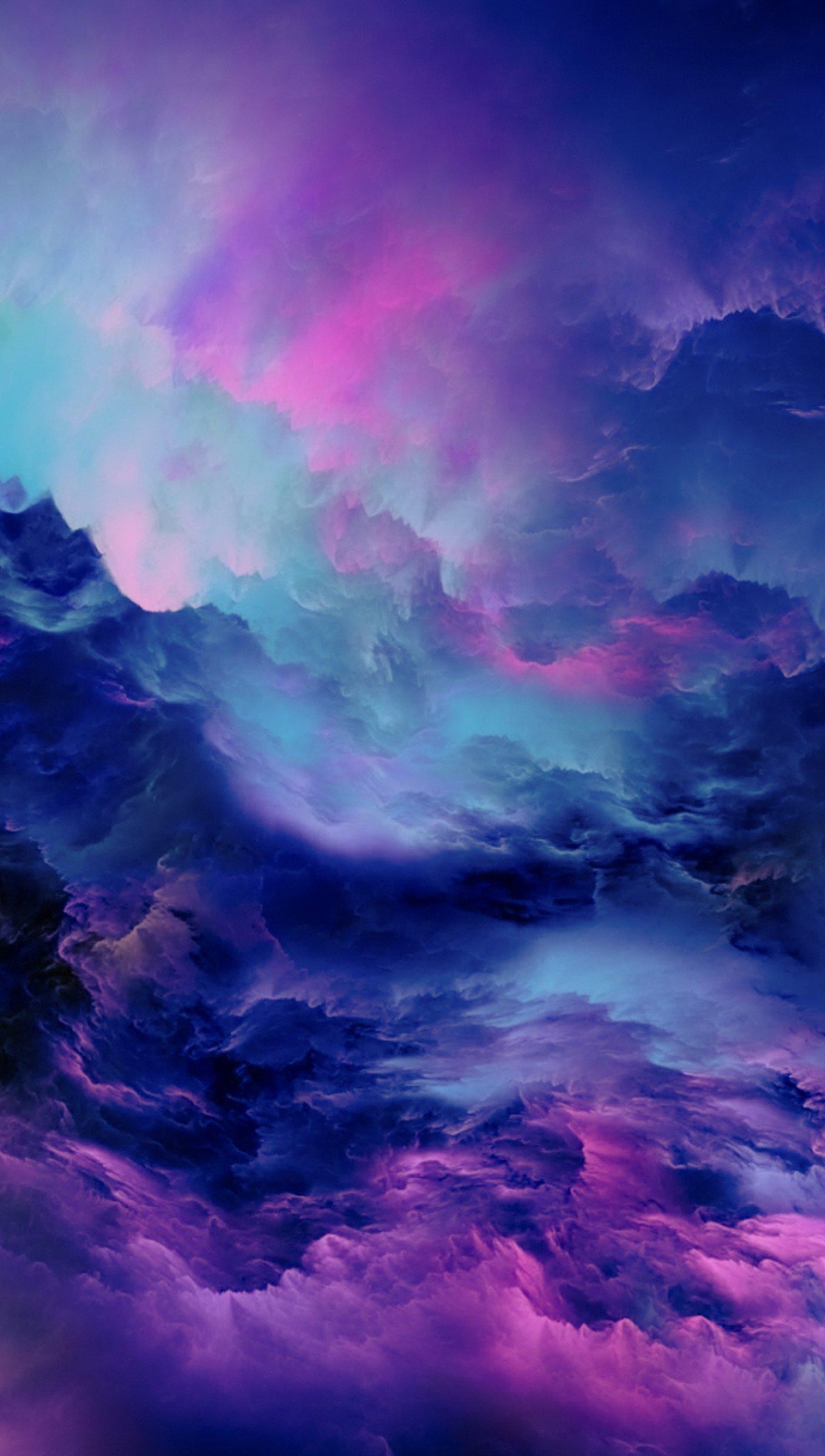 Fondos de pantalla Nubes abstractas iluminadas Vertical