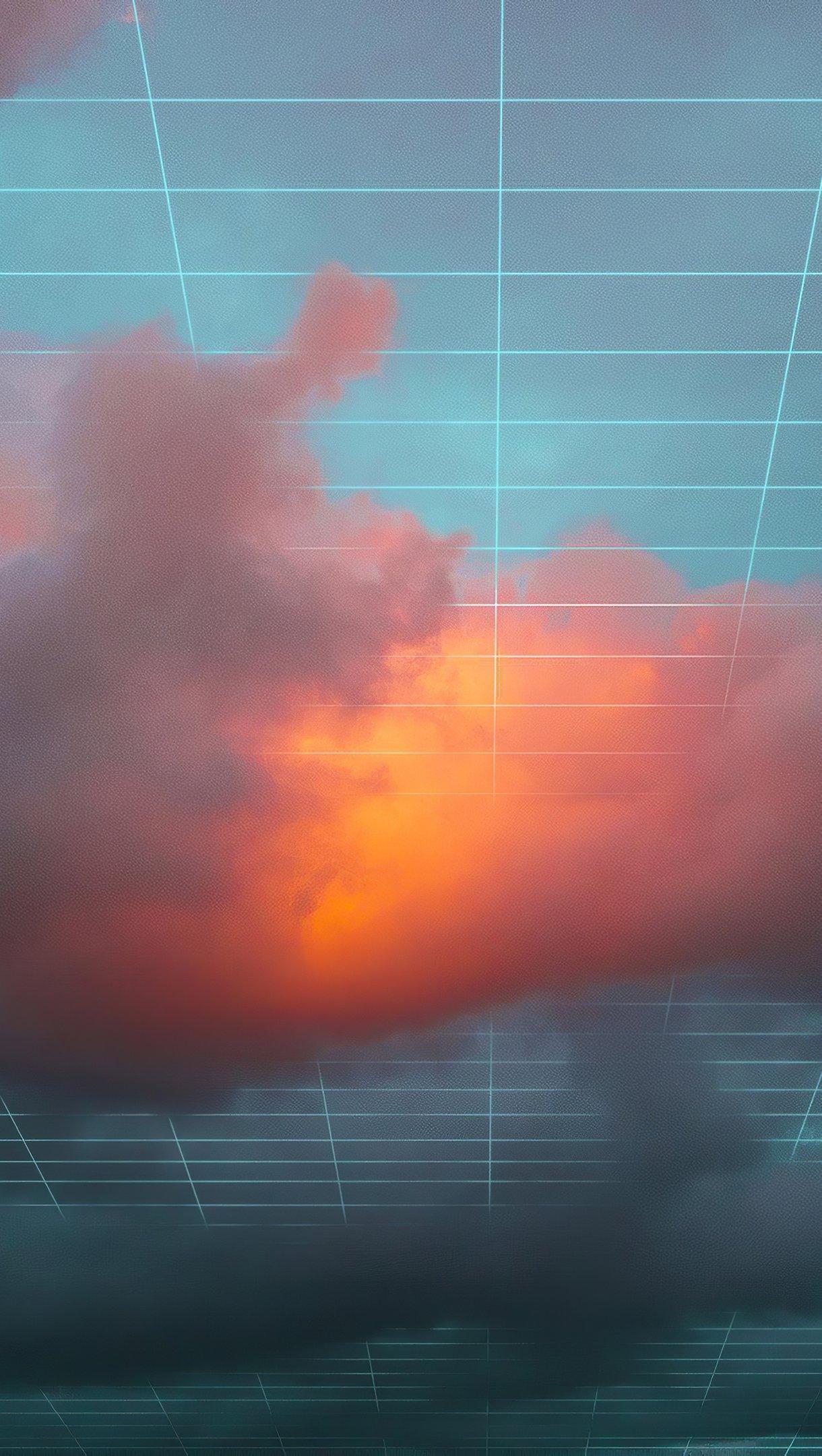 Fondos de pantalla Nubes digitales Vertical