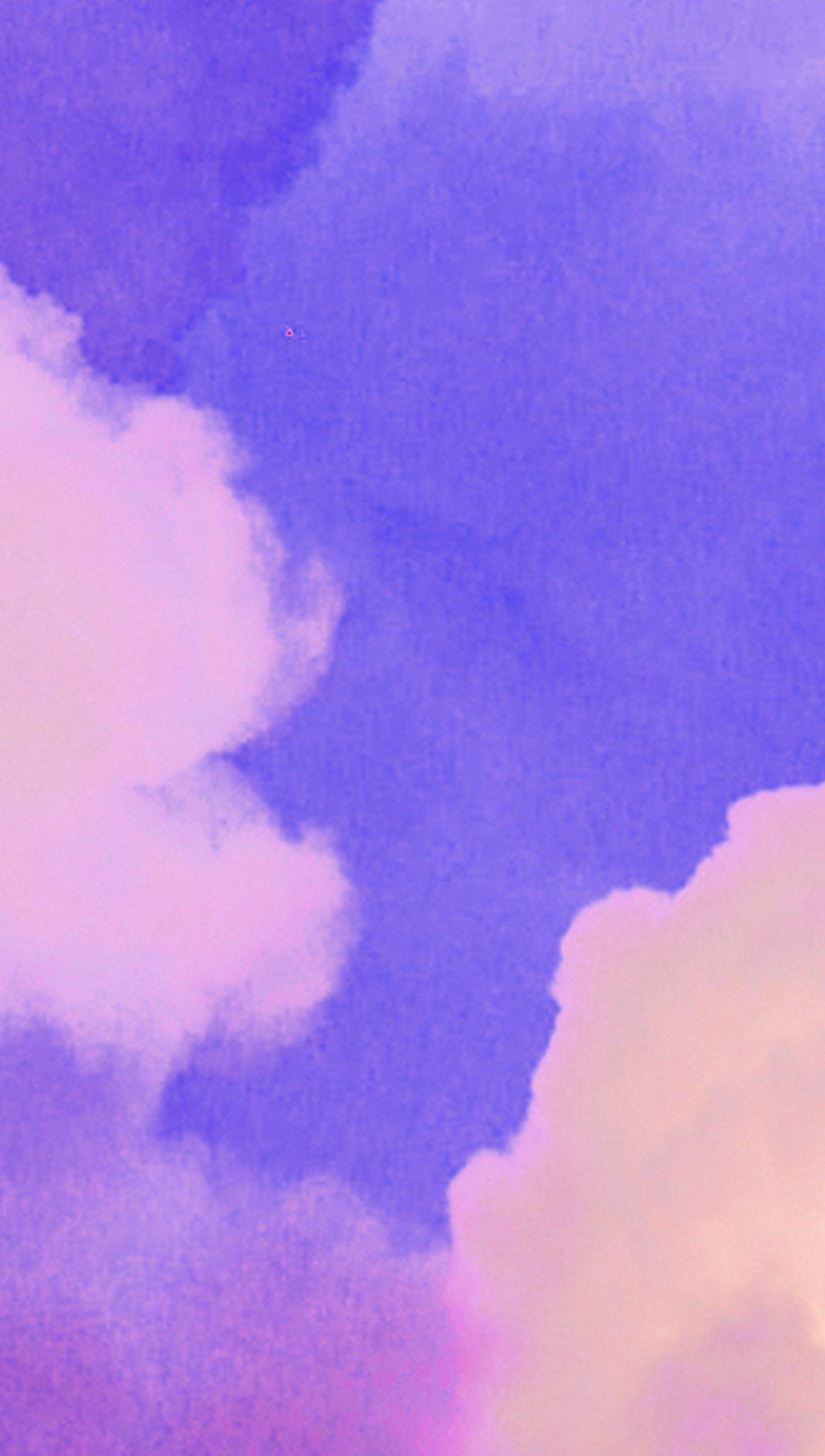 Fondos de pantalla Nubes moradas Vertical