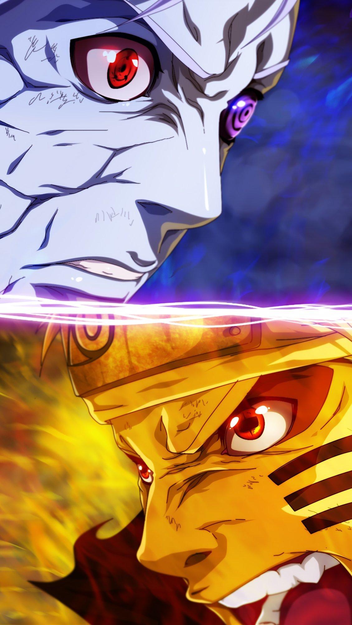 Fondos de pantalla Anime Obito Uchiha contra Naruto Uzumaki Vertical