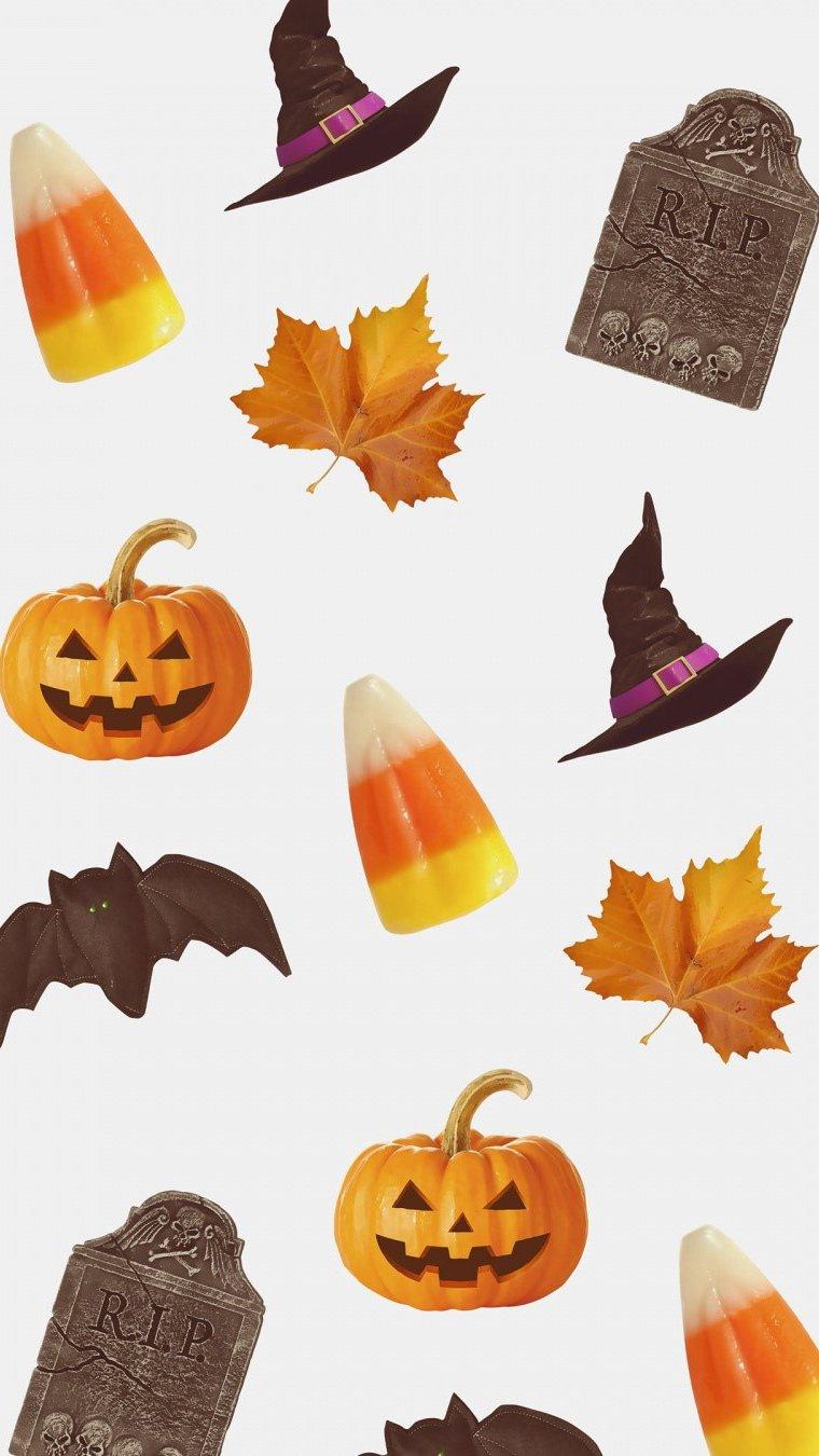 Wallpaper Halloween objects Vertical