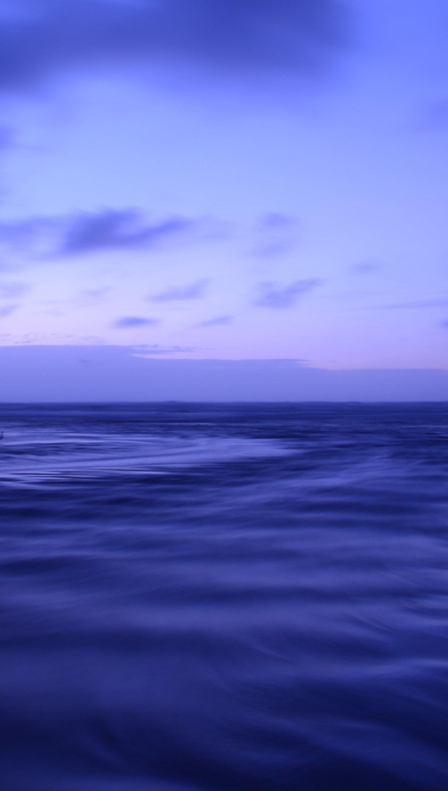Fondos de pantalla Océano al anochecer morado Vertical