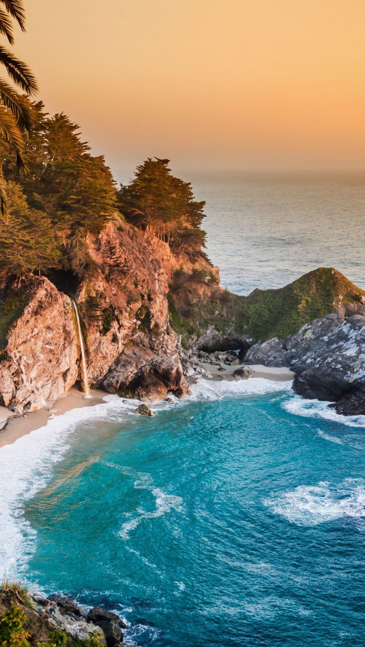 Fondos de pantalla Oceano pacifico de California Vertical