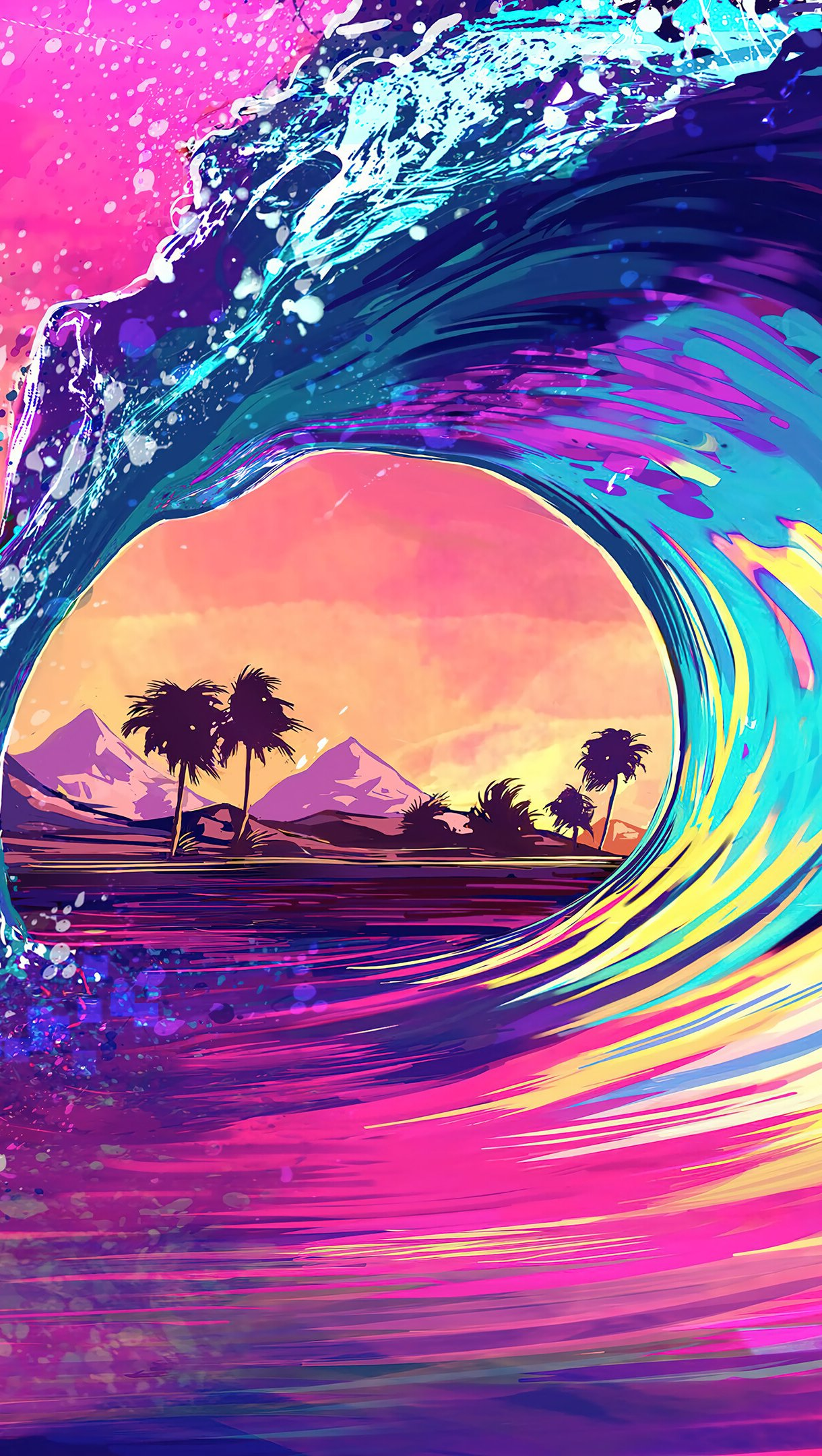 Fondos de pantalla Ola de colores Vertical