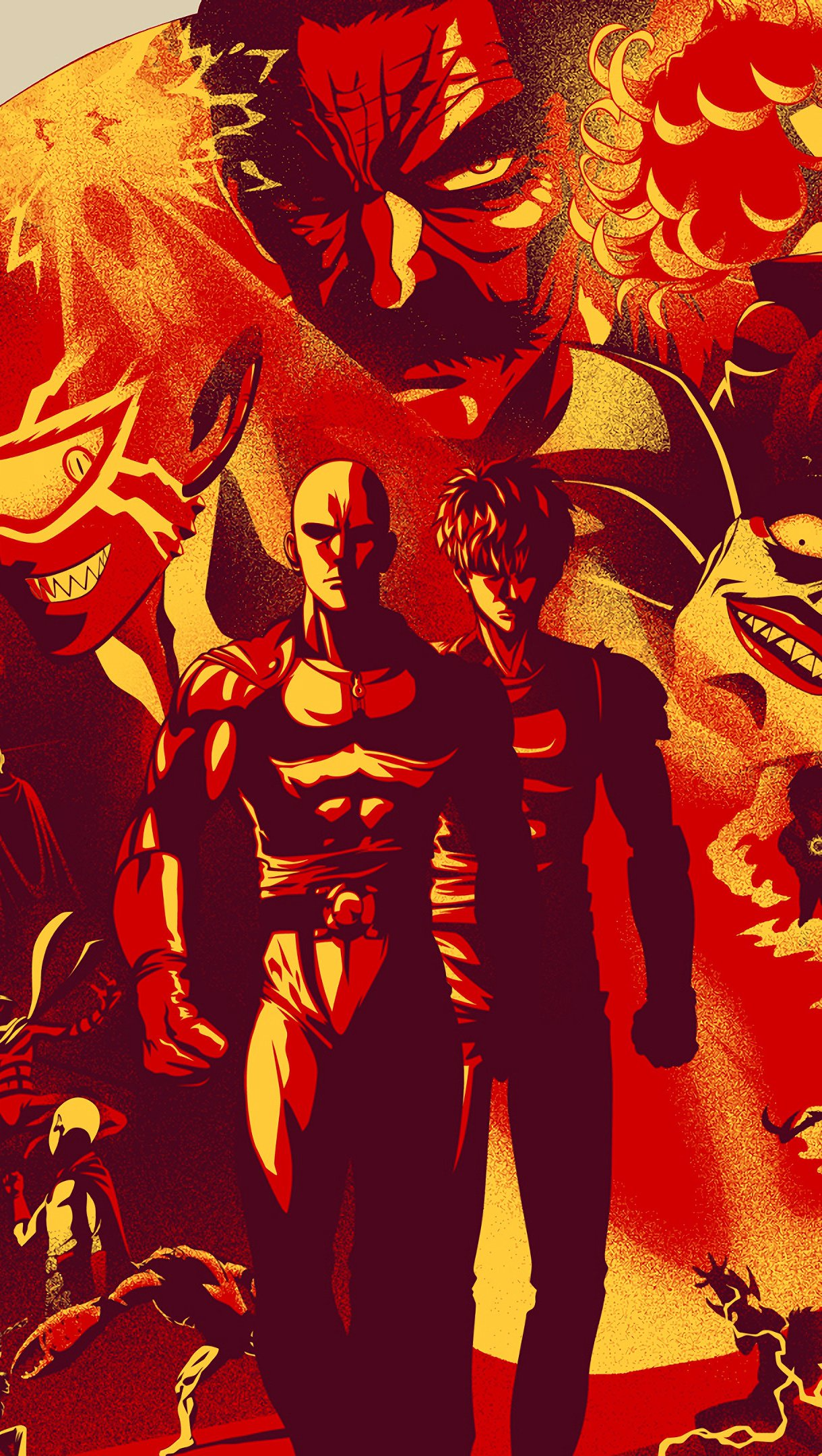 Anime Wallpaper One Punch Man Characters Vertical