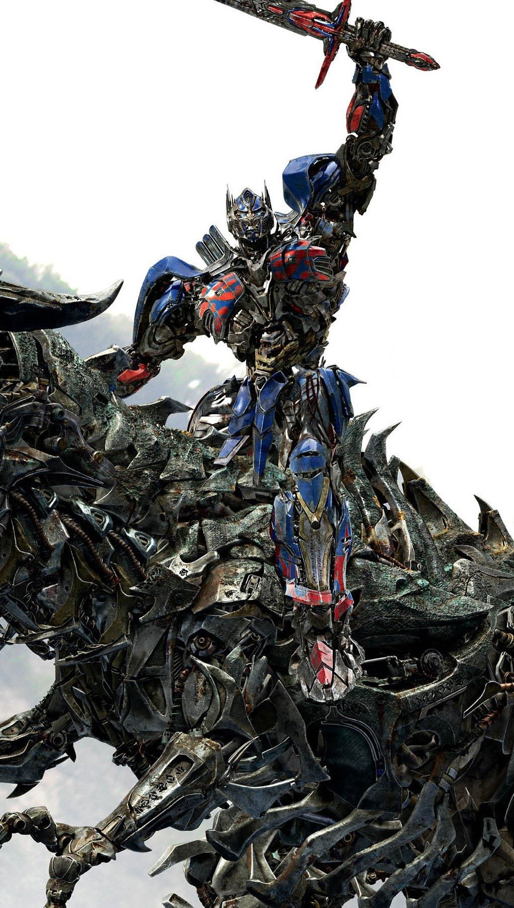 Wallpaper Optimus Prime on Grimlock Vertical