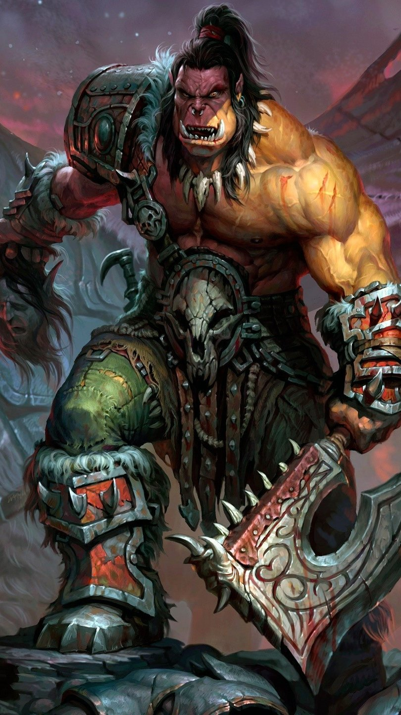 Wallpaper World of Warcraft Orc Vertical