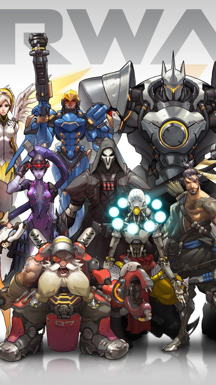 Wallpaper Overwatch Characters Vertical