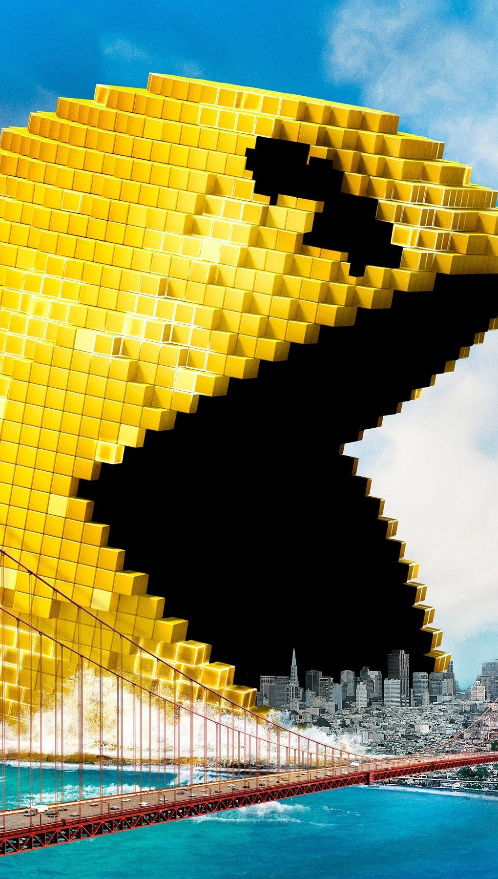Wallpaper Pacman from the movie Pixels Vertical