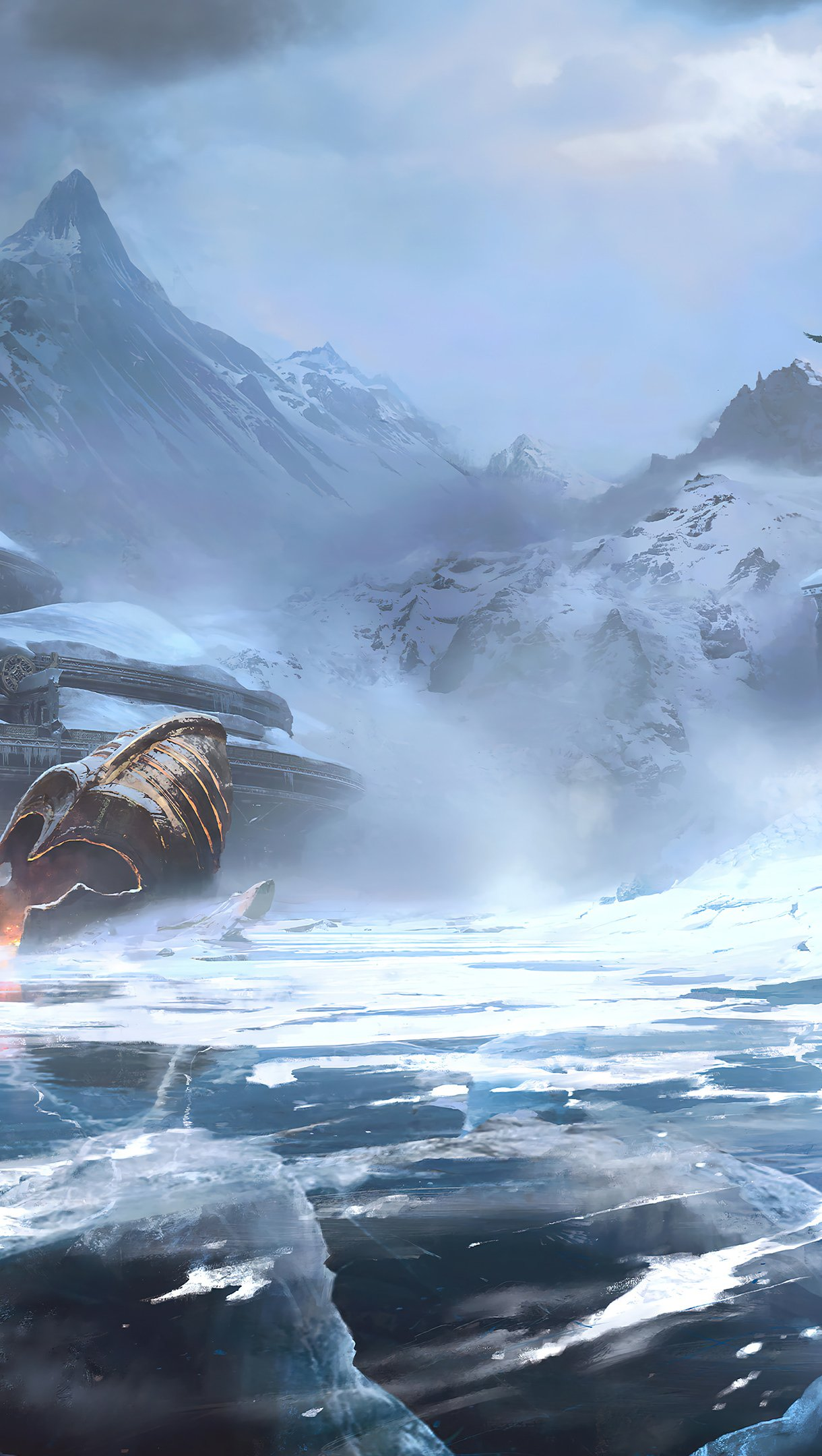 Fondos de pantalla Paisaje de God of War Ragnarok Vertical