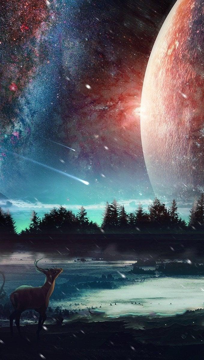Fondos de pantalla Paisaje del universo Vertical