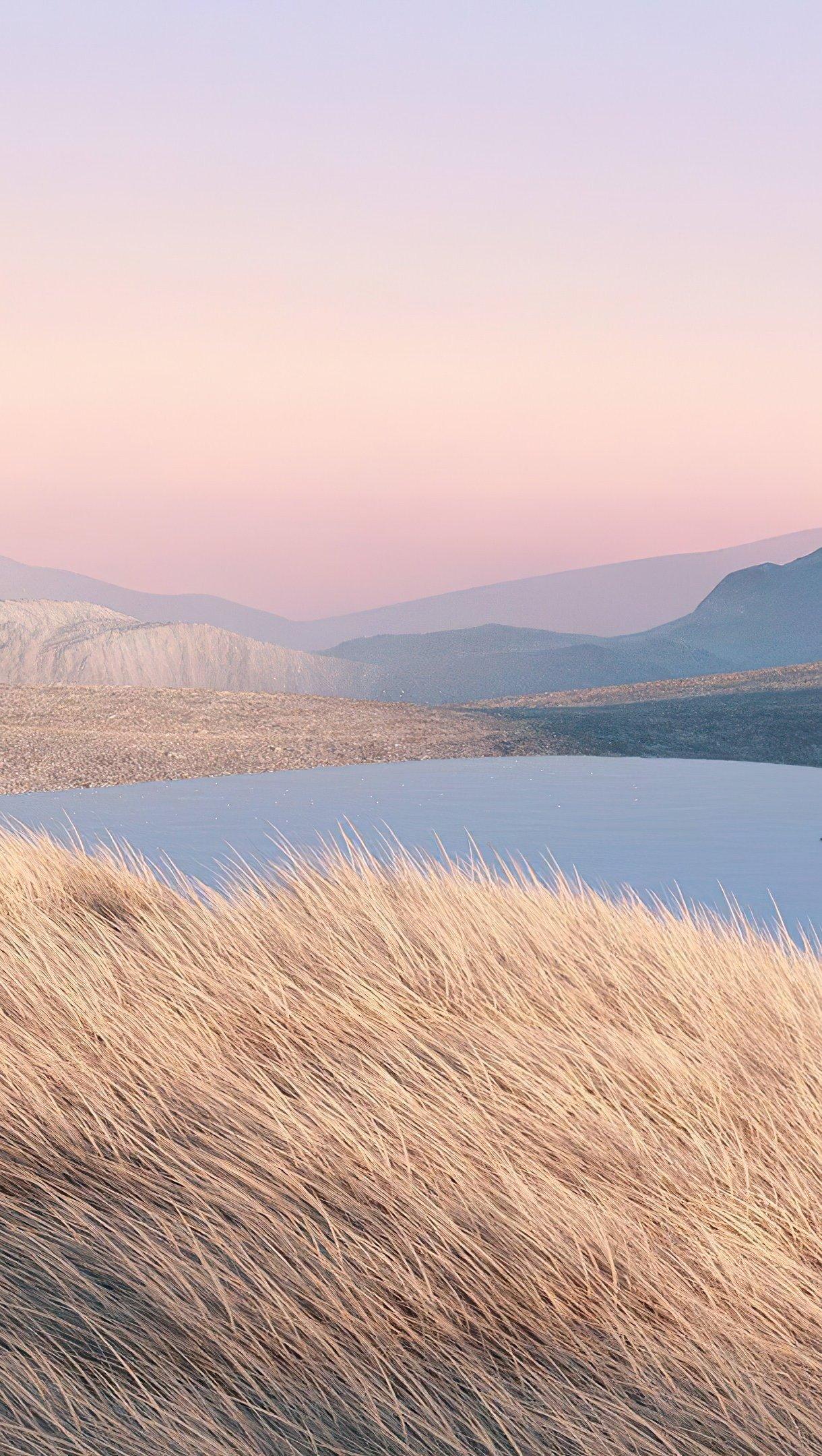 Fondos de pantalla Paisaje digital de montañas Vertical