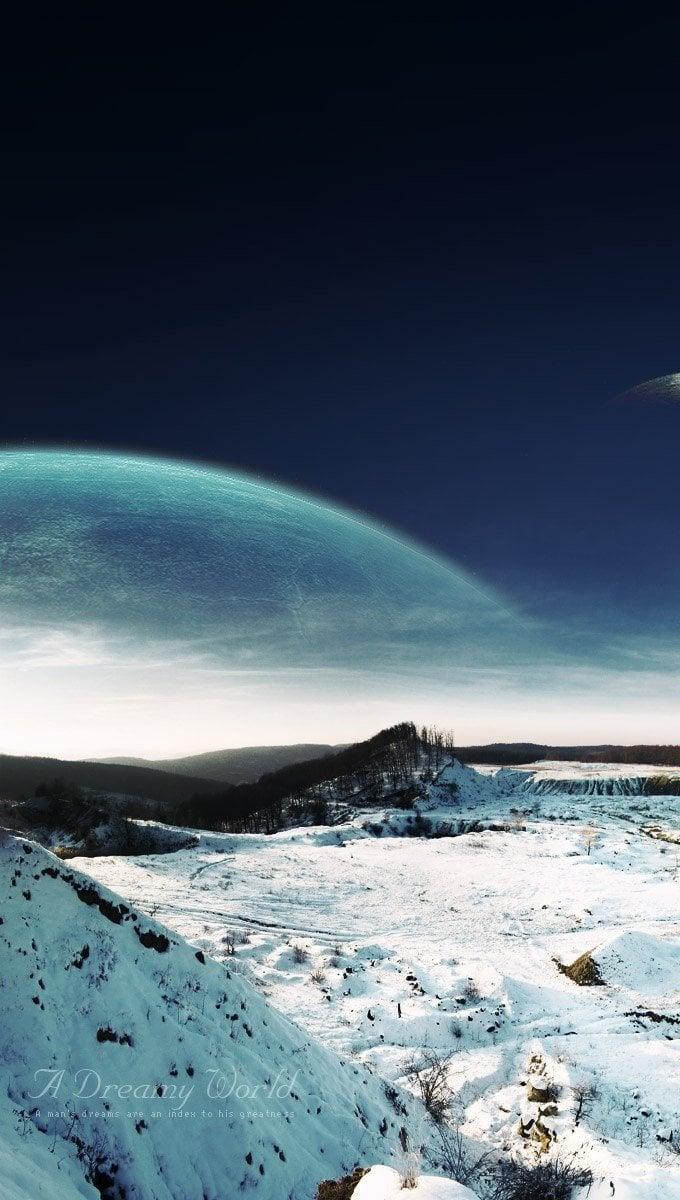 Wallpaper Dreamy snowy landscape Vertical