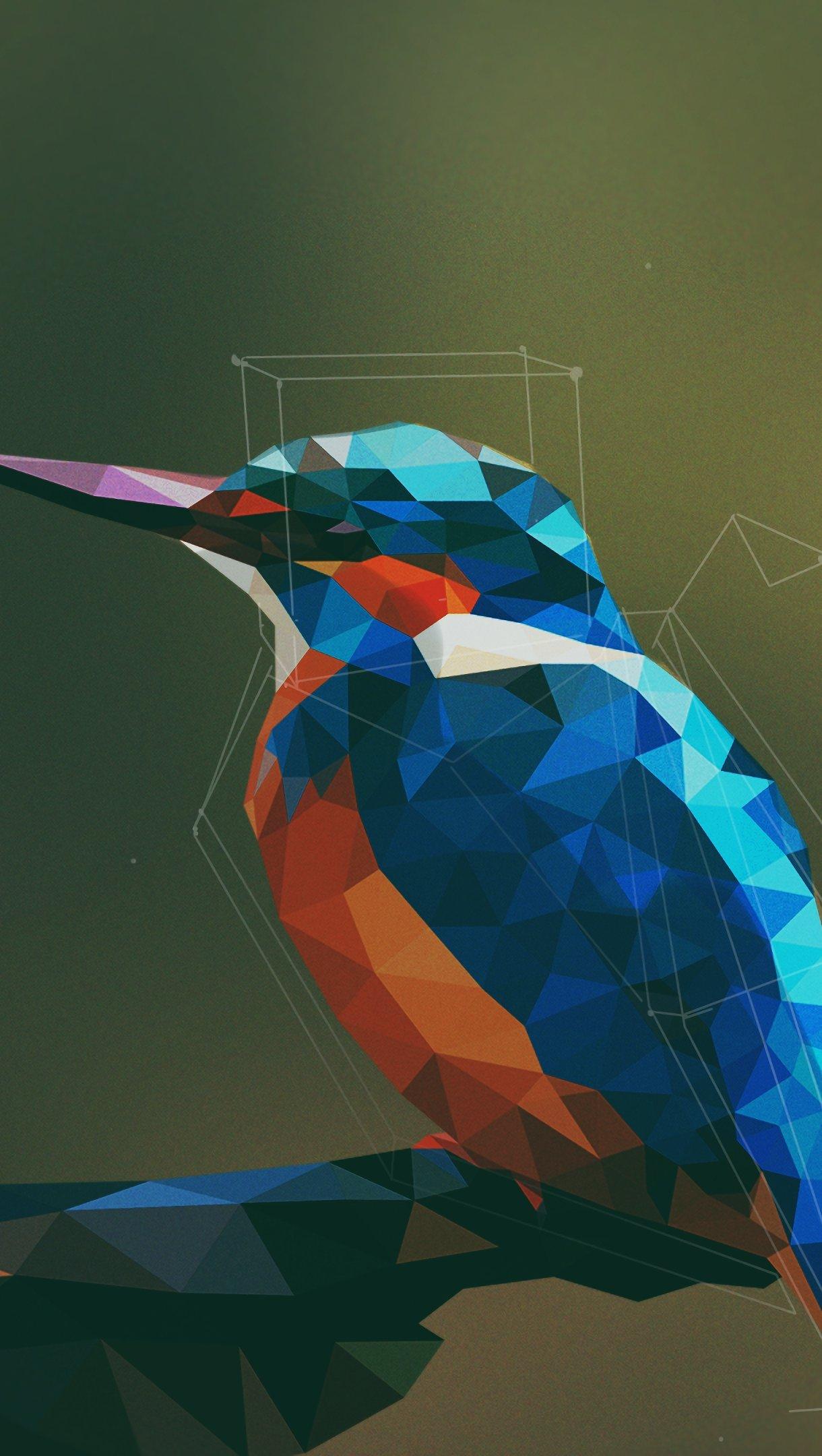 Fondos de pantalla Pájaro abstracto con arte digital Vertical