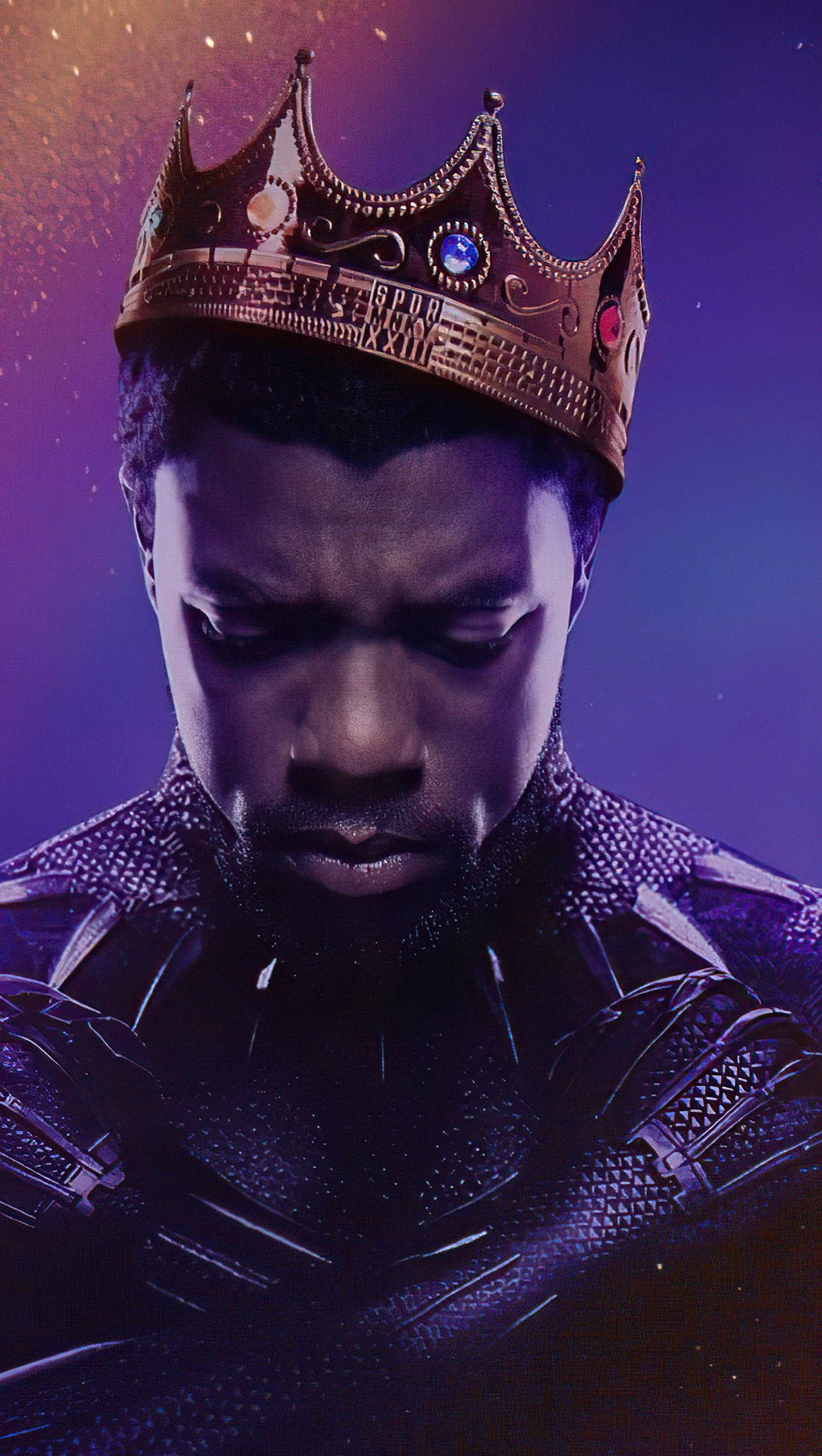 Wallpaper Black Panther rest in power Vertical