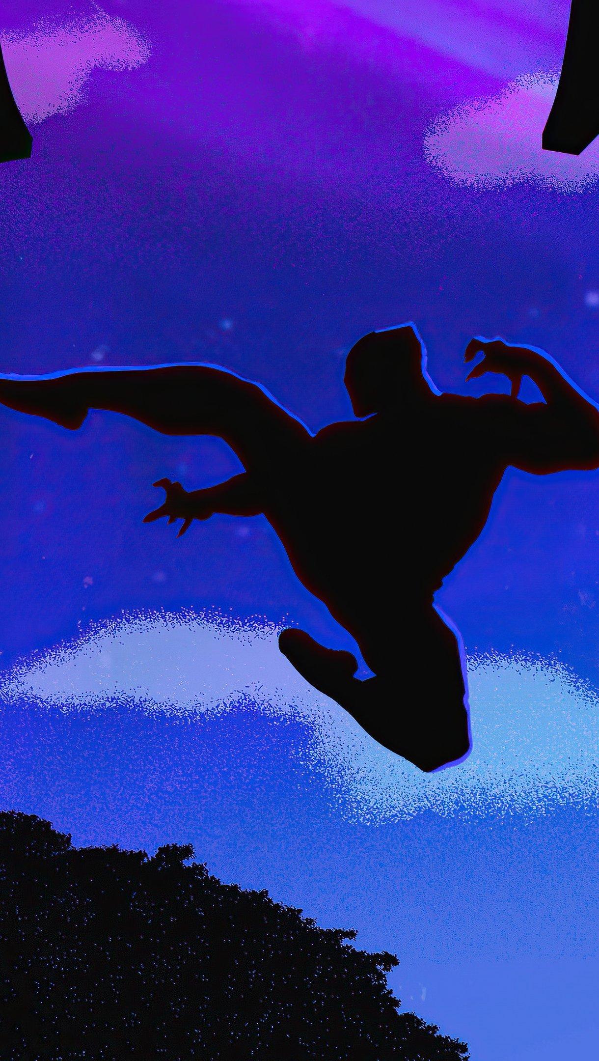 Fondos de pantalla Pantera negra saltando Vertical