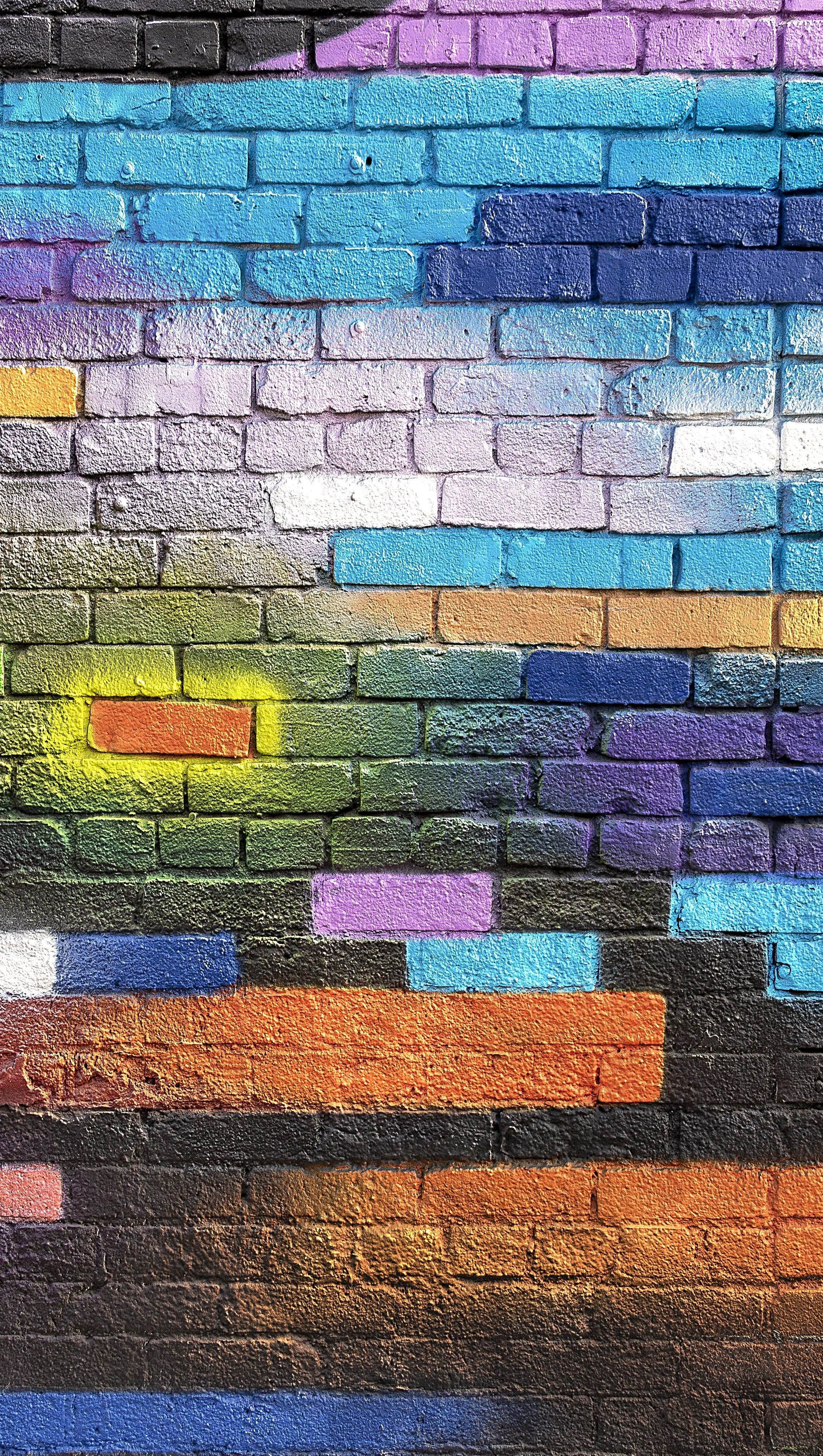 Wallpaper Colorful Wall Vertical