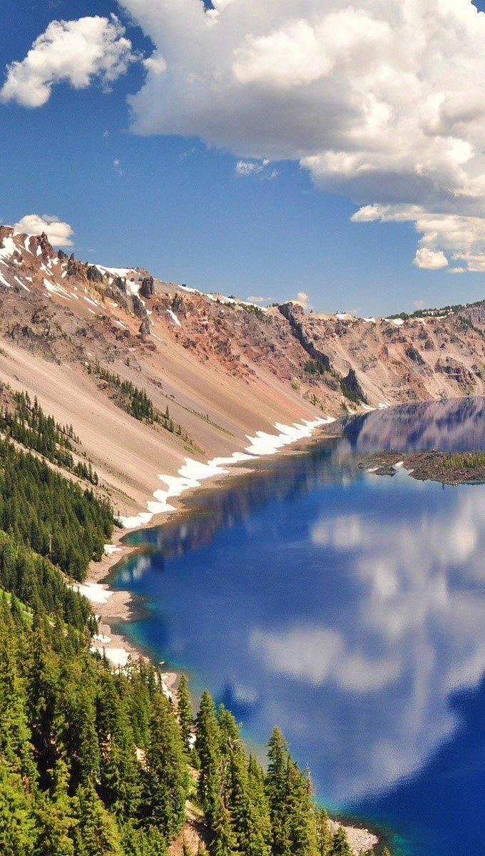 Fondos de pantalla Parque Nacional del lago del crater Vertical